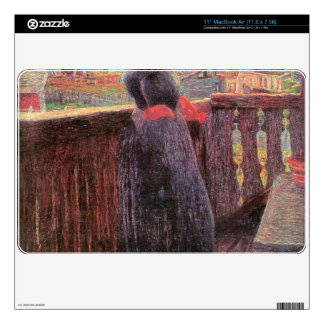 """On the balcony by Giovanni Segantini 11"""" MacBook Air Decals"""