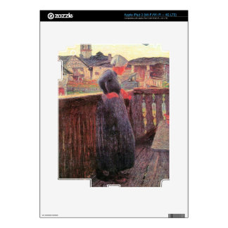 On the balcony by Giovanni Segantini Decal For iPad 3