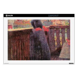 On the balcony by Giovanni Segantini Laptop Decal