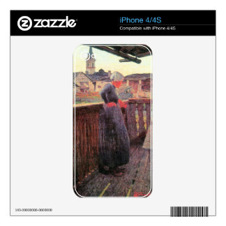 On the balcony by Giovanni Segantini Skin For iPhone 4S