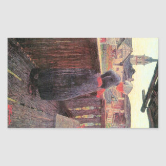 On the balcony by Giovanni Segantini Stickers