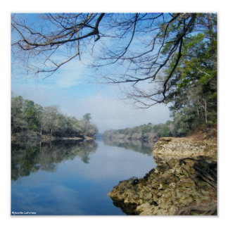 On the banks of the Suwannee River Poster