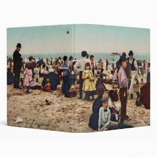 On the beach at Coney Island New York Vinyl Binders