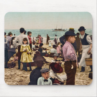 On the beach at Coney Island New York Mouse Pad