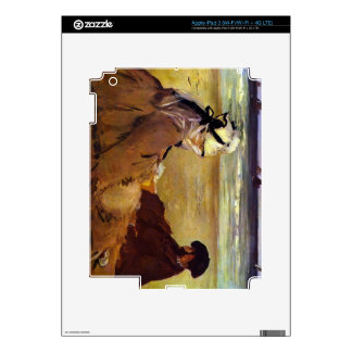 On the beach by Edouard Manet iPad 3 Decal