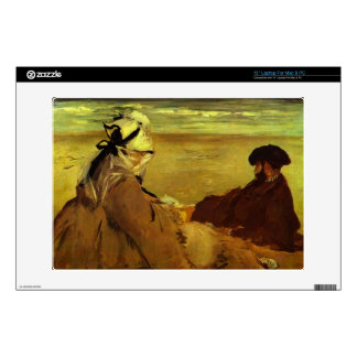 On the beach by Edouard Manet Laptop Skin