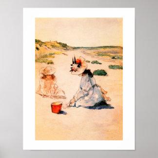 """On the Beach"" by William Merritt Chase Art Print"