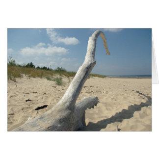 On the beach - Card