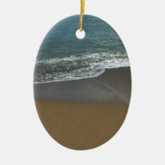 On the beach ceramic ornament