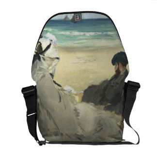 On the Beach - Edouard Manet Courier Bag