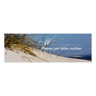 On the Beach escort cards Business Card Templates