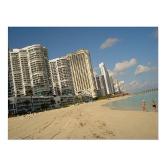 On The Beach In Miami! Print