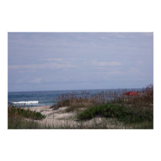 On the beach in Ocracoke Poster