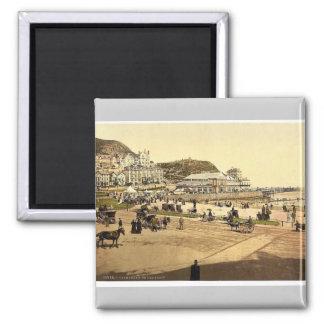 On the beach, Llandudno, Wales rare Photochrom Magnet