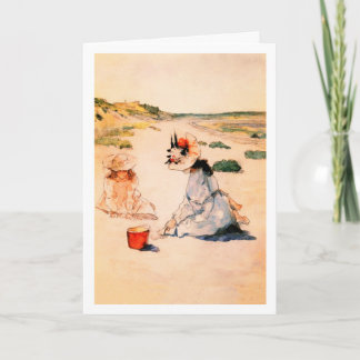 On the Beach. Mother's Day Fine Art Cards