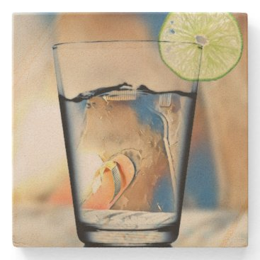 Beach Themed On The Beach Sandstone Coaster