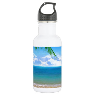 on the beach stainless steel water bottle