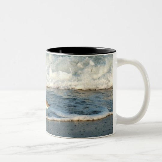 ON THE BEACH Two-Tone COFFEE MUG