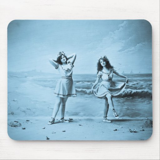 On The Beach vintage 1902 Mouse Pad