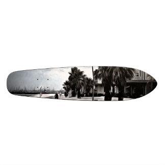 On the beachfront skate board
