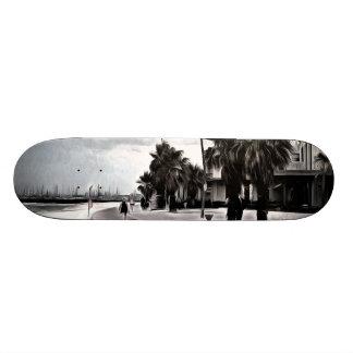 On the beachfront skateboard