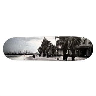 On the beachfront skateboards