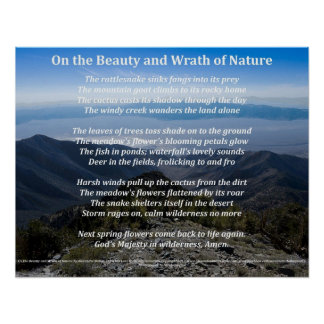 On the Beauty and Wrath of Nature Poster