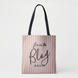 On The Blog Again: Pink and Coffee Tote Bag