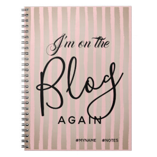 On The Blog Again with Hashtags Notebook