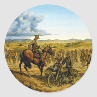 On the Border by Donna Neary Classic Round Sticker