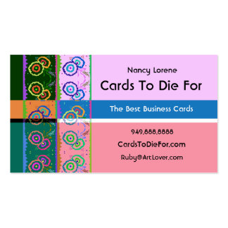 On The Border - Lilac and Pink Double-Sided Standard Business Cards (Pack Of 100)