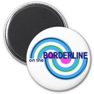 On The Borderline Logo Magnet
