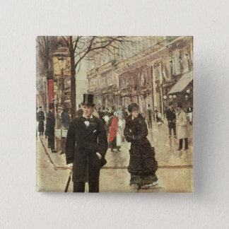 On the Boulevard Pinback Button