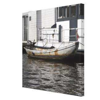 On the canals of Amsterdam Canvas Prints