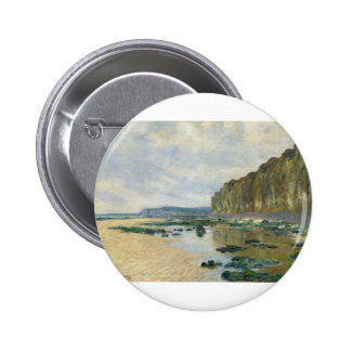 On the Cliff at Pourville (1882) Pinback Buttons