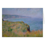 On the Cliff at Pourville - Claude Monet Greeting Card