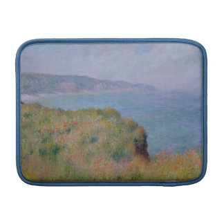 On the Cliff at Pourville - Claude Monet MacBook Sleeve