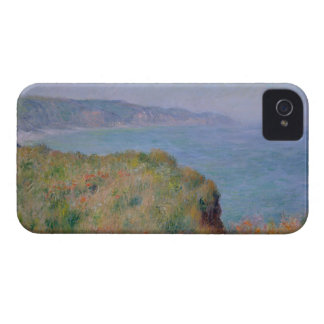 On the Cliff at Pourville - Claude Monet iPhone 4 Case-Mate Case
