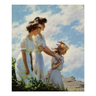 On the Cliff by Charles Courtney Curran Print