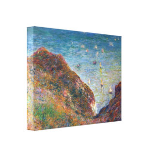 On the cliffs, Fine weather by Claude Monet Canvas Print