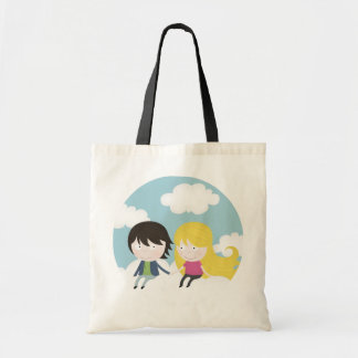 On the clouds tote bag