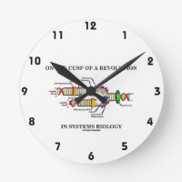 On The Cusp Of A Revolution In Systems Biology DNA Round Wall Clock