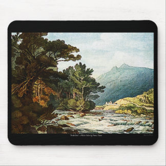 On The Dart Watercolor Painting PC Mac Mousepad