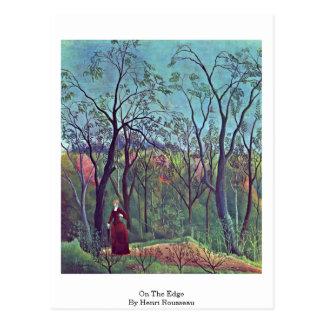 On The Edge By Henri Rousseau Postcard