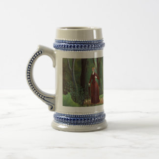On the edge of a forest beer stein
