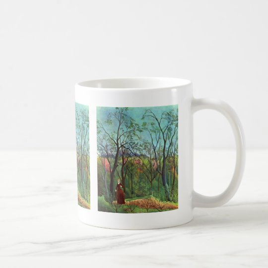 On the edge of a forest coffee mug
