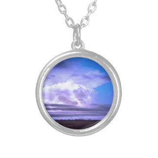 On_The_Edge_Of_A_Storm Silver Plated Necklace