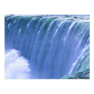On the Edge of Powerful Niagara Falls, New York Postcard