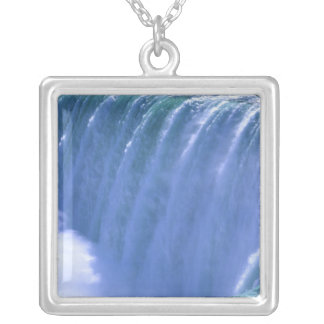 On the Edge of Powerful Niagara Falls, New York Silver Plated Necklace