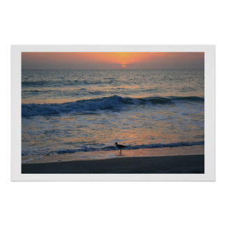 On The Edge of Sunset Poster